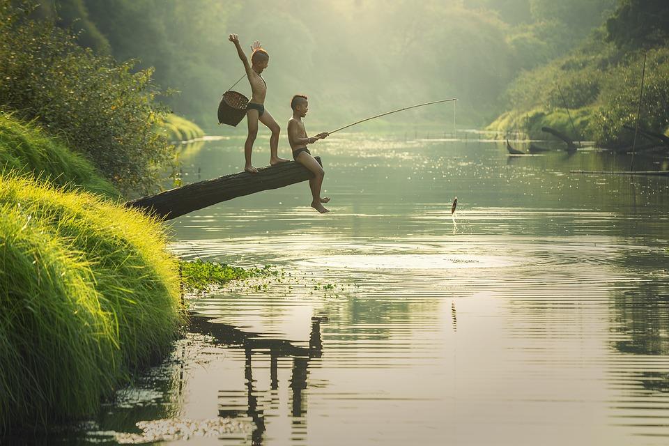 une carte de pêche